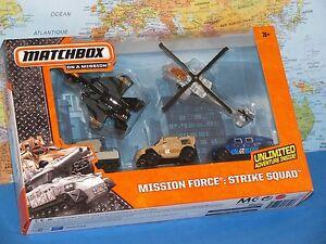 MATCHBOX MISSION FORCE STRIKE SQUAD BOEING F-15 EAGLE AH 64 APACHE HUMVEE 5PACK