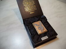 ZIPPO LIGHTER PLAYBOY  LIMITED EDITION Gold & Swarovski BLING  N 763/7500 NUOVO