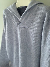 NWT MAGASCHONI Gorgeous Men's Heather Grey Wool Cashmere Hooded Sweater L $248