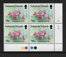 1992 SOLOMON ISLANDS - Orchids - Plate Block with Traffic Lights - MNH.