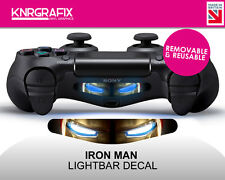 KNR5558 PREMIUM IRON MAN COLOUR LIGHTBAR LIGHT BAR DUALSHOCK 4 PS4 DECAL