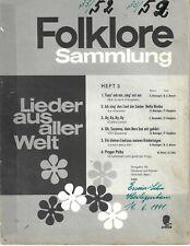 Folklore-Sammlung Heft 3 * Notenheft für Klavier