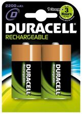 New Duracell HR20 Rechargeable 2200mAh D Batteries - Twin Pack  DURHR20B