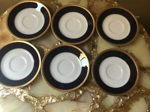 New Legacy By Noritake VALHALLA  Cobalt lot Of 6 Saucers