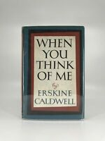 1959 Vtg When You Think of Me Erskine Caldwell Freight Car Hobo Americana 1st HC