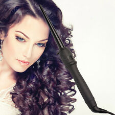 9-19mm Tourmaline Ceramic Cone Hair Curling Wand Roller LCD Display Styling Tool