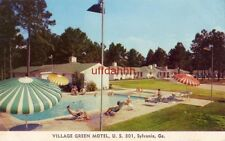 VILLAGE GREEN MOTEL SYLVANIA, GA U.S. 301 publ by O'Brien Color Studios