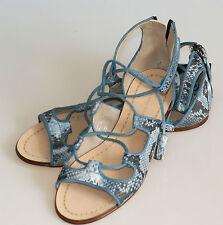 ZARA Sandalen RÖMER Schuhe GLADIATOR Sandalette SCHLANGE blau Blogger Gr.41 NEU