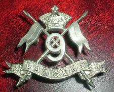 CAP BADGES-ORIGINAL VICTORIAN/QVC 9th LANCERS GOOD BADGE
