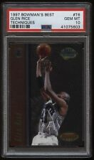 1997 Bowman's Best Techniques #T6 Glen Rice PSA 10