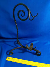 Vintage Wrought Cast Iron Plant Stand Sign Tabletop Retro Mid Century Rack
