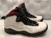 Nike Air JORDAN 10 Retro Chicago X GS Youth Size 6.5Y White Black Red 310806-100