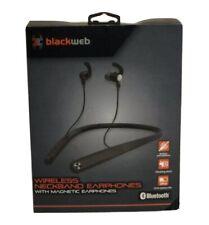 Blackweb in ear bluetooth headphones/neckband/mic-black New
