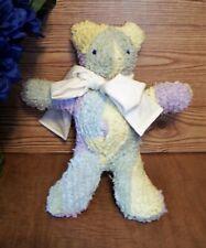 Rainbow Chenille Multi-Pastel Baby Teddy Bear Ooak Handcrafted
