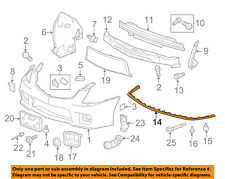 Cadillac GM OEM 09-15 CTS Front Lower Bumper-Spoiler Chin Lip 25882978