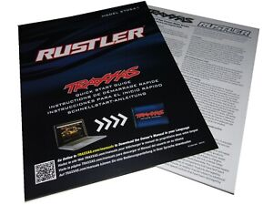 Traxxas 37054-1 RUSTLER 2wd XL-5 Quick Start Guide, Parts Book Exploded Views