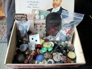 Antique Vintage Button Lot  Mixed eras & materials