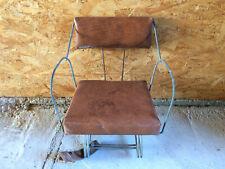 Ancien petit siège de vélo enfant en cuir pour porte-bagages vintage