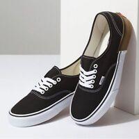 Vans Authentic Gum Block Black Men's Classic Skate Shoes Size 9.5