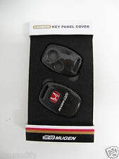 Mugen Carbon Fiber Key Fob Cover Panel Shell Case 2 Button RED H HONDA ACCORD