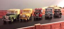1:76 OO 00 Scale Land Rover Series 1 80 86 88 107 109 Oxford Models Set of 5