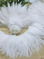 50pcs White Fluffy Rooster Feathers 10-18cm DIY  Craft Millinery Dream Catcher
