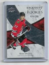 KIRBY DACH 2019-20 UD EXQUISITE COLLECTION BLACKHAWKS ROOKIE CARD 90/299