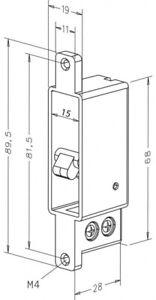 Assa Abloy effeff Riegelschaltkontakt 875-10 Verschlussüberwachung