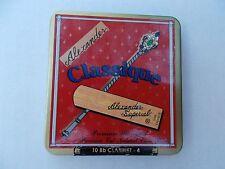 Alexander Superial Classique Bb clarinetto canne forza 4-stagno di 10 CANNE