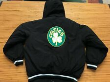 MENS MEDIUM - Vtg Boston Celtics Reebok Hardwood Classics Quilted Hooded Jacket