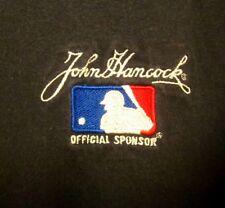 JOHN HANCOCK FINANCIAL baseball lrg tee Life Insurance company T shirt sewn logo