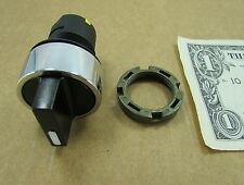 Elfin 2 Position 22MM Black Rotary Selector Switch Knob 020STAMANW Control Panel