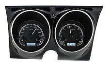 1967-68 Chevrolet Camaro Firebird Dakota Digital Black Alloy White VHX Gauge Kit