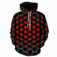 Tops Graphic Womens Hoodie Jumper Pullover Hooded Unisex Mens 3D Print Blouse