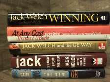 5 Jack Welch Hardcovers (Winning, At Any Cost, Ge Way, Straight from the Gut, Th