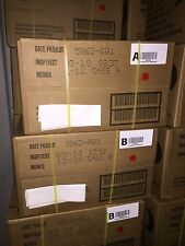 """1 """"A"""" and 1 """"B"""" Case Genuine US Miltary MRE'S Factory Sealed 3 /2018"""