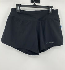 Brooks Chaser 5 Womans Black Athletic Running Workout Exercise Shorts New