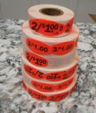 Lot Of 21 31 Price Stickers Yard Sale Garage