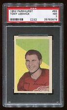 1952 Parkhurst #65 Tony Leswick *Red Wings* PSA 7 NM #25783878