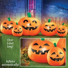 5 Ft. Long Airblown Inflatable Halloween Pumpkin Patch Outdoor Decoration