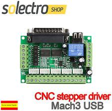 5 Axis CNC Interface Board Stepper Driver Mach3 USB CNC Maquina Corte I0124
