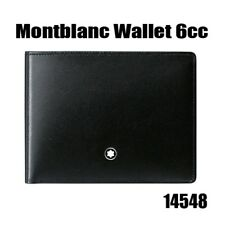 MontBlanc Men's Meisterstuck Black Leather Wallet 6cc #14548 Tracking Number