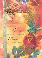 Gorgeous Papyrus Thanksgiving Card - Autumn is Second Spring - Gold Leaf Charm