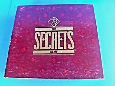 """""""THE SECRETS GAME"""" THE ADULT PARTY GAME, VTG 1987, MILTON BRADLEY, COMPLETE, USA"""