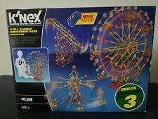 Knex 3 in 1 classic amusement Park building set, near complete