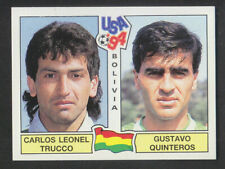 Panini - USA 94 World Cup - # 215 Trucco / Quinteros - Bolivia (Green Back)