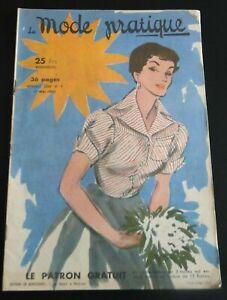 Magazine La MODE PRATIQUE  1er Mai   1950  n°9