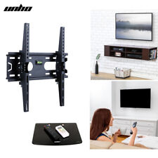 """Universal Tilt TV Wall Mount With Floating Holder Bracket Storage Shelf 26 - 55"""""""