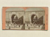 Tunisi La Porta Da La Marina Tunisia Foto Stereo Vintage Albumina