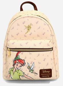 Loungefly Disney Peter Pan Tink Tinkerbell Sketch Cream Mini Backpack Bag NWT